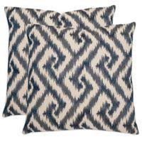 Safavieh Teddy 22-Inch x 22-Inch Throw Pillows in Blue (Set of 2)