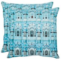 Safavieh Verona 20-Inch x 20-Inch Throw Pillows in Turquoise (Set of 2)