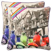 Safavieh Vienna 18-Inch x 18-Inch Multicolored Throw Pillows in Multi (Set of 2)