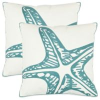 Safavieh Whitney 18-Inch x 18-Inch Throw Pillows in Blue (Set of 2)