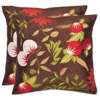 Safavieh Ocaria Throw Pillows in Multi/Brown (Set of 2)