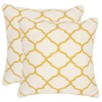 Safavieh Rhea Throw Pillows in Pear Green (Set of 2)