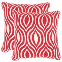 Safavieh Metis Throw Pillows in Red (Set of 2)