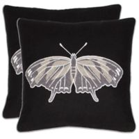 Safavieh Motoro Ray Throw Pillows in Black (Set of 2)