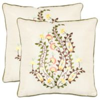 Safavieh Parides Throw Pillows in Creme (Set of 2)
