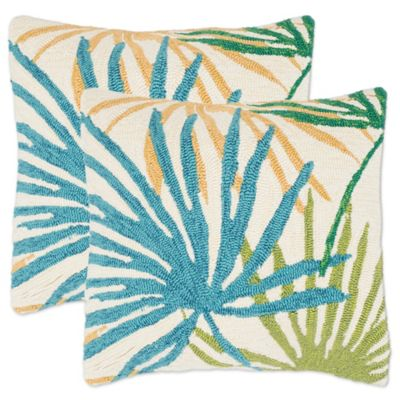 Safavieh Tropical Flower Throw Pillows in Tropical Blend  Set of 2. Buy Tropical Home Decor from Bed Bath   Beyond