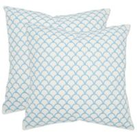 Safavieh Nikki Throw Pillows in Blue (Set of 2)