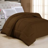 Down Alternative Twin Comforter in Chocolate