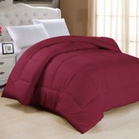 Down Alternative Twin Comforter in Burgundy
