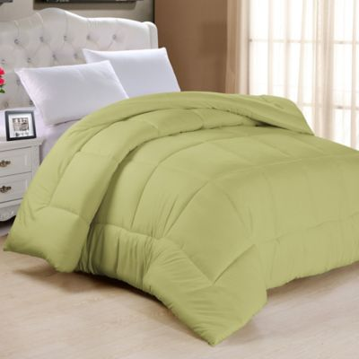 down alternative full comforter in sage