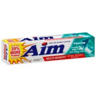 Aim® 5.5 oz. Anticavity Fluoride Gel Whitening Toothpaste with Baking Soda in Fresh Mint