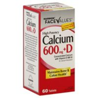Harmon® Face Values® 60-Count High Potency Calcium 600mg + D Dietary Supplement