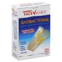 Harmon® Face Values™ Antibacterial Sheer Adhesive Bandages in Assorted Sizes