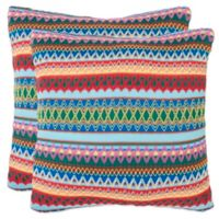 Safavieh Mirabelle 18-Inch x 18-Inch Throw Pillows in Blue (Set of 2)