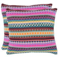 Safavieh Mirabelle 18-Inch x 18-Inch Throw Pillows in Chocolate (Set of 2)