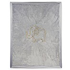Lambs & Ivy® Metallic Elephant Blanket in Grey/Gold