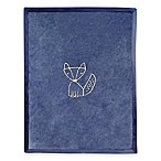 Lambs & Ivy® Metallic Fox Blanket in Navy/Gold