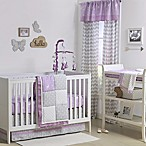 The Peanut Shell® Woodland Patchwork 4-Piece Crib Bedding Set in Purple/Grey