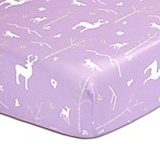 The Peanut Shell® Woodland Fitted Crib Sheet in Purple