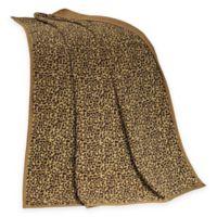 HiEnd Accents San Angelo Leopard Throw Blanket