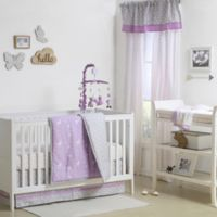 The Peanut Shell® Woodland 4-Piece Crib Set in Purple/Grey