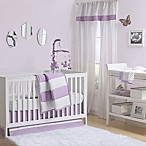 The Peanut Shell® Triangles 4-Piece Crib Bedding Set in Purple