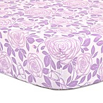 The Peanut Shell® Rose Fitted Crib Sheet in Purple