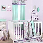The Peanut Shell® Floral 4-Piece Crib Bedding Set in Purple/Mint