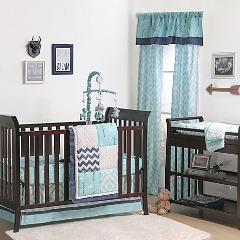 The Peanut Shell 174 Woodland Patchwork Crib Bedding