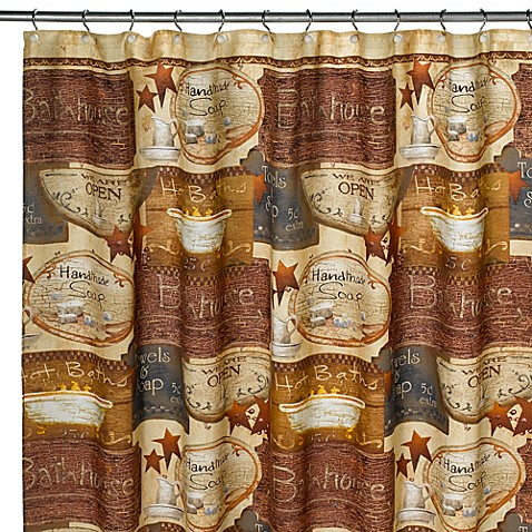 country baths brown shower curtain bed bath amp beyond primitive shower curtains foter