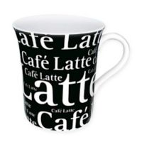 Konitz Café Latte Writing Mugs in Black (Set of 4)