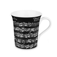 Konitz Vivaldi Libretto Mugs in Black (Set of 4)