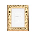 Reed & Barton Watchband 4-Inch x 6-Inch Picture Frame in Satin Gold
