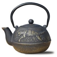 Old Dutch International® Cast Iron Tora Teapot in Matte Black