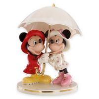 Lenox® Disney Porcelain Mickey and Minnie Singing in the Rain Figurine