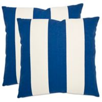 Safavieh Sally 22-Inch Throw Pillows in Navy (Set of 2)