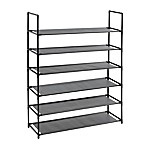 Studio 3B™ 6-Tier Fabric Shoe Rack in Black