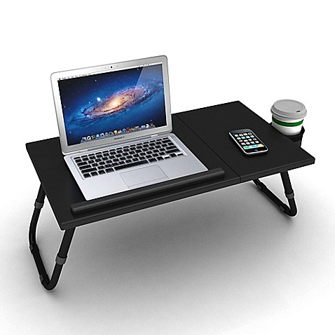Adjustable Laptop Tray In Black Bed Bath Amp Beyond