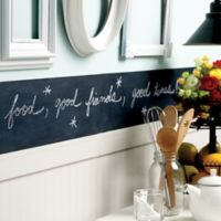 Slate Grey 38-Inch Peel and Stick Chalkboard Border