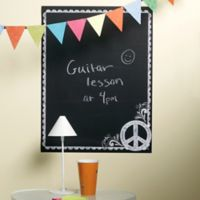 Wallies Peel & Stick Peace Sign Chalkboard Wall Decal