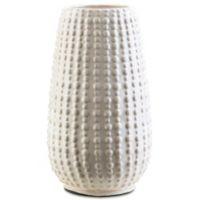Surya Reba Small Ceramic Table Vase in Ivory