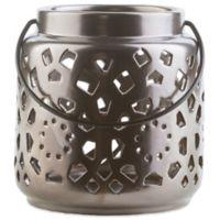 Style Statements by Surya Kimba Small Ceramic Tealight Lantern in Black