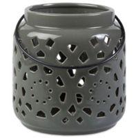Style Statements by Surya Kimba Small Ceramic Tealight Lantern in Grey