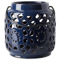 Style Statements by Surya Kimba Small Ceramic Tealight Lantern in Navy