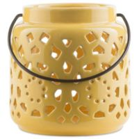 Style Statements by Surya Kimba Small Ceramic Tealight Lantern in Yellow