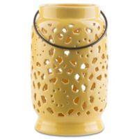 Style Statements by Surya Kimba Medium Ceramic Tealight Lantern in Yellow