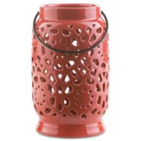 Style Statements by Surya Kimba Medium Ceramic Tealight Lantern in Red