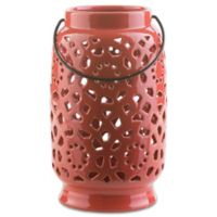 Style Statements by Surya Kimba Large Ceramic Tealight Lantern in Red