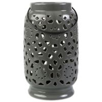 Style Statements by Surya Kimba Large Ceramic Tealight Lantern in Grey