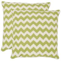 Safavieh Striped Tealea 18-Inch Throw Pillows in Lime/Green (Set of 2)